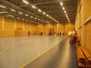 Den nybyggda aktivitetshallen